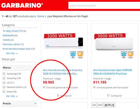 Precios transparentes - Garbarino