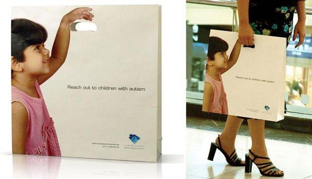 Bolsas con un mensaje
